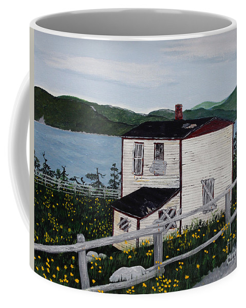 Old House If Walls Could Talk Coffee Mug featuring the painting Old House - If Walls Could Talk by Barbara Griffin