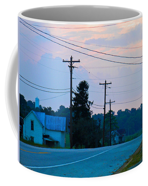 Vacant Coffee Mug featuring the photograph Old Houses And Sunset by Nick Kirby