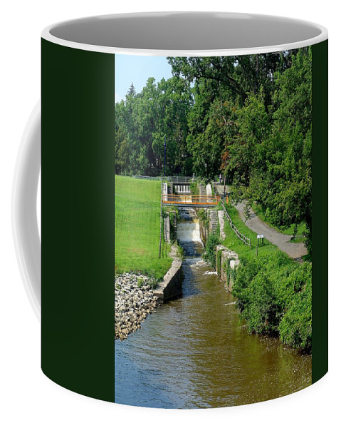 Usa Coffee Mug featuring the photograph Old Lock by Eric Swan