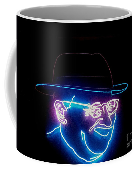 Coffee Mug featuring the photograph Old Man In Neon 2 by Kelly Awad