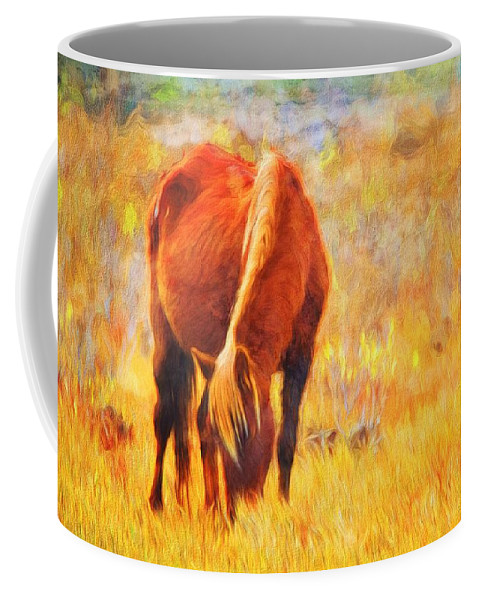 Chincoteague Pony Coffee Mug featuring the photograph Old Mare by Alice Gipson