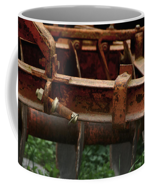 Tractor Coffee Mug featuring the photograph Old Mowing Machine by Doc Braham