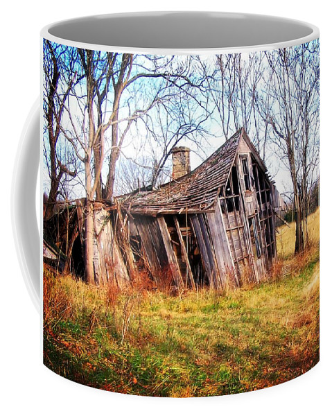 Landscape Coffee Mug featuring the photograph Old Ozark Home by Marty Koch