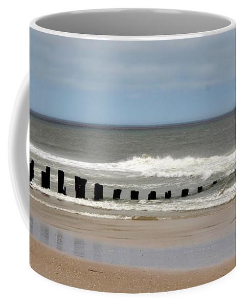 Carolina Beach Coffee Mug featuring the photograph Old Pilings by Rand Wall