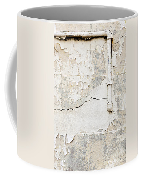 Concrete Wall Coffee Mug featuring the photograph Old Pipes Background by Tim Hester