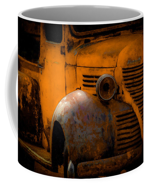Old Plymouth Coffee Mug featuring the digital art Old Plymouth Yellow by Ernie Echols