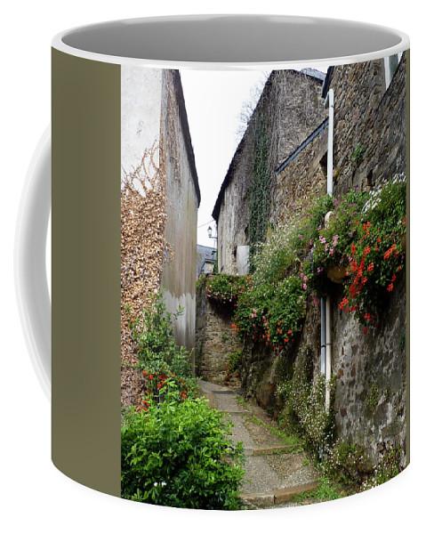 Near Guerande Coffee Mug featuring the photograph Old Quarter Of La Roche Bernard by Carla Parris