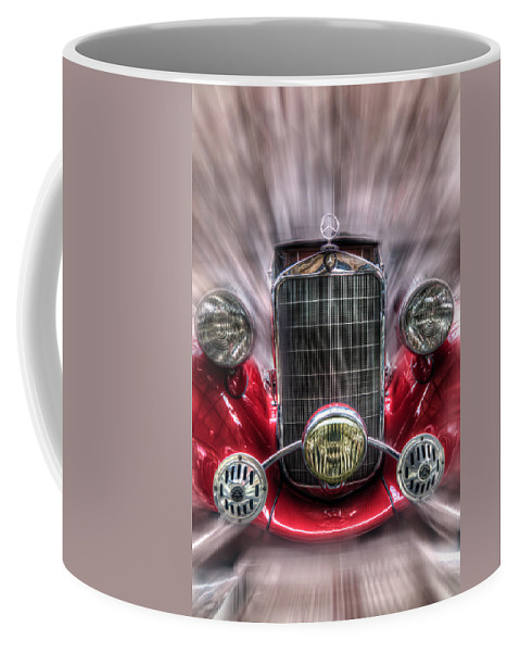 Car Coffee Mug featuring the digital art Old Red by Nathan Wright