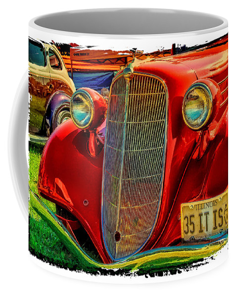 Old Red Car Coffee Mug featuring the photograph Old Red by Warrena J Barnerd