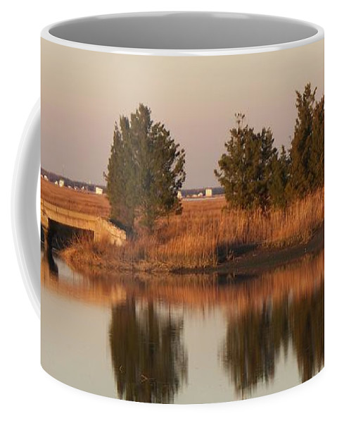 Intercoastal Water Way Coffee Mug featuring the photograph Old Roads And Bridges South Jersey by Eric Schiabor