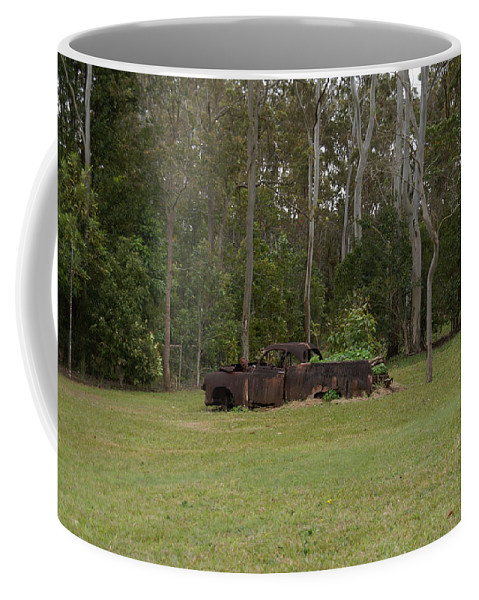 Australia Queensland Qld Coffee Mug featuring the digital art Old Rusted Truck by Carol Ailles