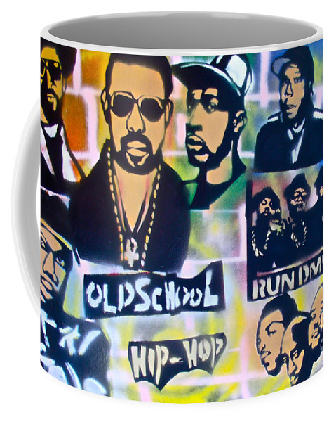 Hip Hop Coffee Mug featuring the painting Old School Hip Hop 2 by Tony B Conscious
