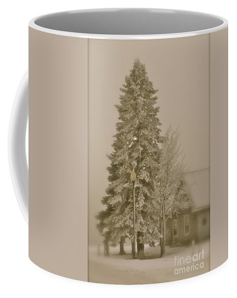 Winter Coffee Mug featuring the photograph Old School Winter by Rick Monyahan