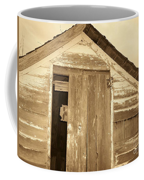 Old Shed Coffee Mug featuring the photograph Old Shed by Brandi Maher