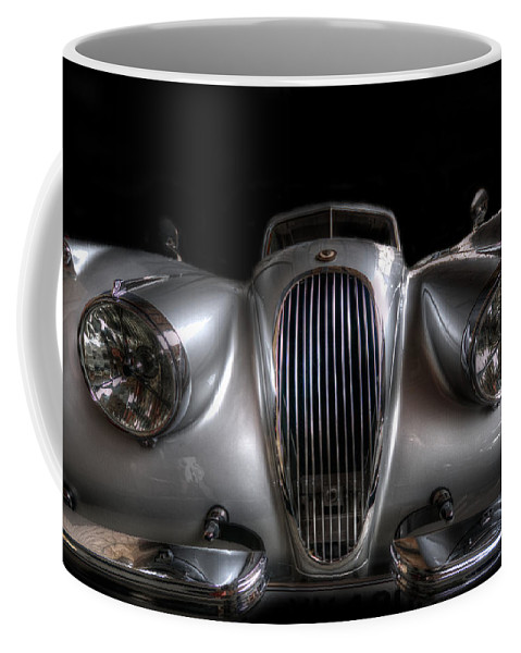 Car Coffee Mug featuring the digital art Old Siliver Cat by Nathan Wright