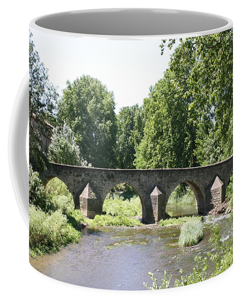 Stone Arch Bridge Coffee Mug featuring the photograph Old Stone Arch Bridge by Christiane Schulze Art And Photography