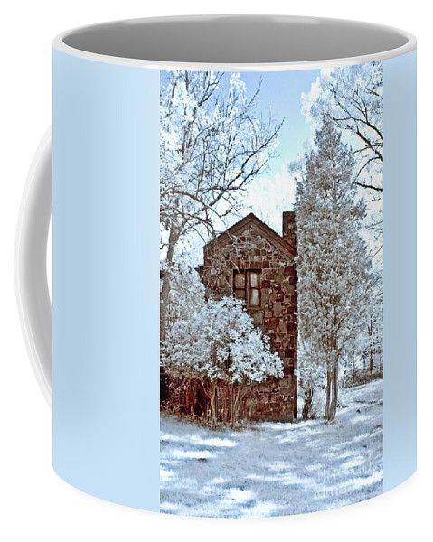 Trees Coffee Mug featuring the photograph Old Stone House by Anthony Sacco