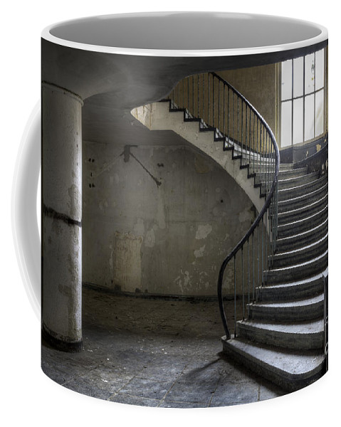 Abandoned Coffee Mug featuring the photograph Old Theater Stairs by Julie Woodhouse