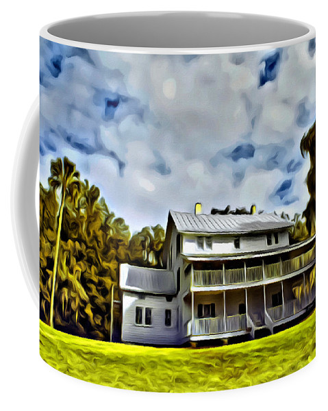 Thursby Plantation House Blue Springs Florida Coffee Mug featuring the photograph Old Thursby Plantation House Two by Alice Gipson
