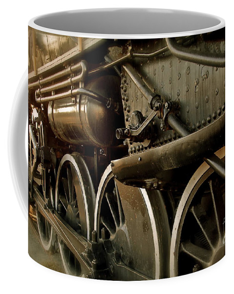 Train Coffee Mug featuring the photograph Old Timer by Rick Monyahan