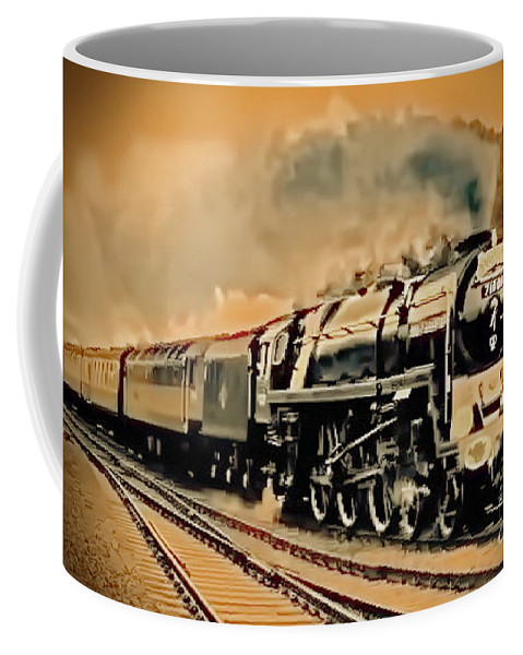 Railroad Coffee Mug featuring the digital art Old Timer T by Tim Richards