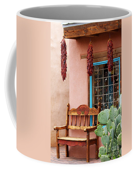 Albuquerque Coffee Mug featuring the photograph Old Town Albuquerque Shop Window by Catherine Sherman