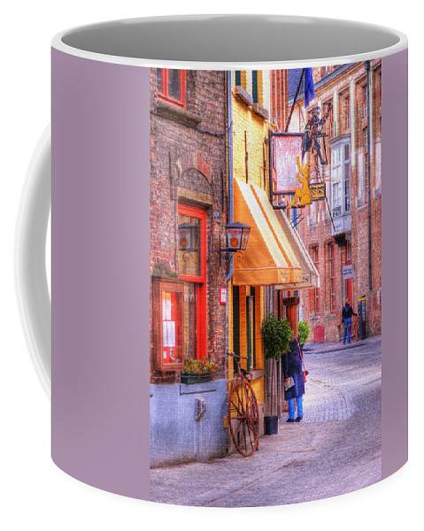 Antique Coffee Mug featuring the photograph Old Town Bruges Belgium by Juli Scalzi