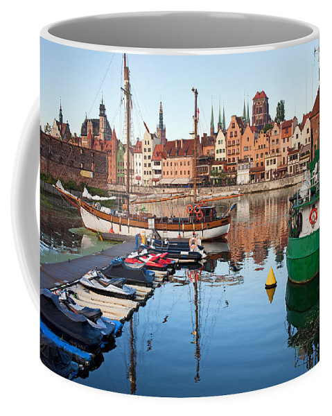 Gdansk Coffee Mug featuring the photograph Old Town Of Gdansk Skyline And Marina by Artur Bogacki