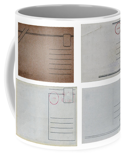 Address Coffee Mug featuring the photograph Old Travel Postcards by Tim Hester