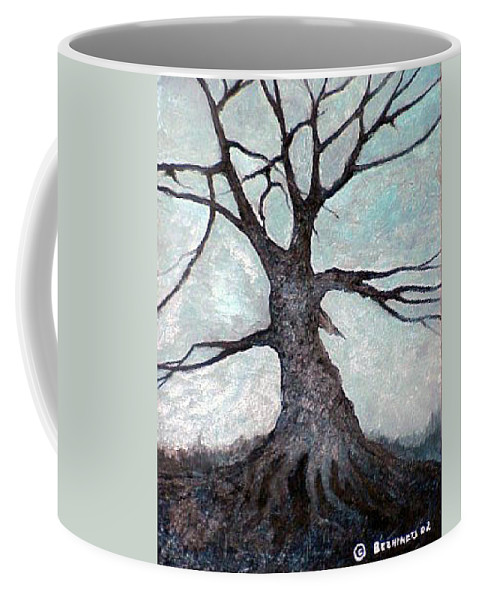 Landscape Coffee Mug featuring the painting Old Tree by Sergey Bezhinets