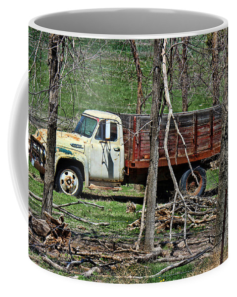 Truck Coffee Mug featuring the photograph Old Truck At Rest by Sylvia Thornton