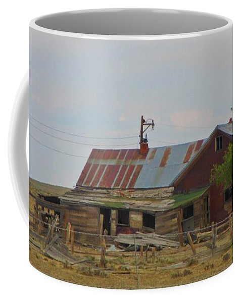 Old Vacant Country Property Coffee Mug featuring the photograph Old Vacant Country Property by John Malone