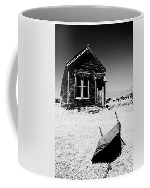 Old Coffee Mug featuring the photograph Old Wheelbarrow by Cat Connor