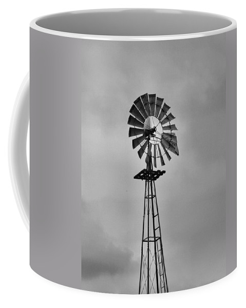 Black And White Windmill Coffee Mug featuring the photograph Old Windmill by Dan Sproul