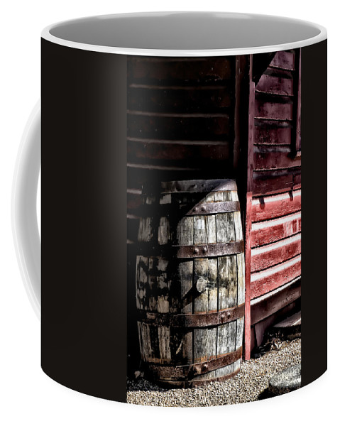 Old Coffee Mug featuring the photograph Old Wooden Barrel by Bill Cannon