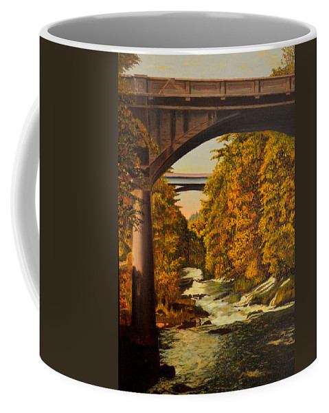 Bridge Coffee Mug featuring the painting Olympia by Thu Nguyen