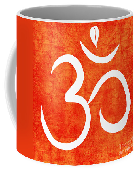 Om Coffee Mug featuring the painting Om Spice by Linda Woods