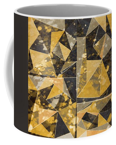 Omg Coffee Mug featuring the digital art Omg Modern Triangles II by south Social Studio