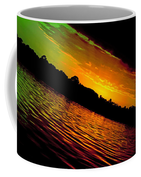 Sunset Coffee Mug featuring the photograph Ominous Sunset by DigiArt Diaries by Vicky B Fuller