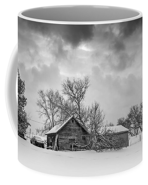 Winter Coffee Mug featuring the photograph On A Winter Day Monochrome by Steve Harrington