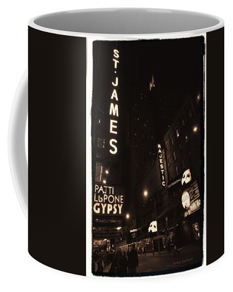 New York Coffee Mug featuring the photograph On Broadway by Donna Blackhall