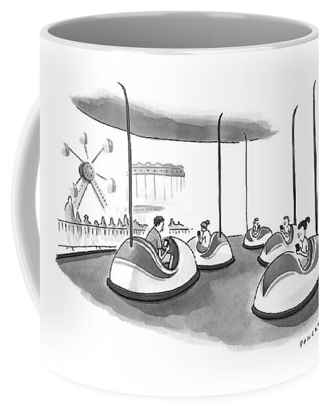 On Bumper Cars Coffee Mug For Sale By Drew Panckeri