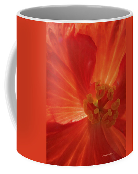 Flower Coffee Mug featuring the photograph On Fire For You by Donna Blackhall