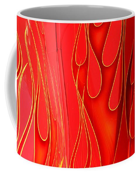Hot Rod Coffee Mug featuring the photograph On Fire by Joe Kozlowski