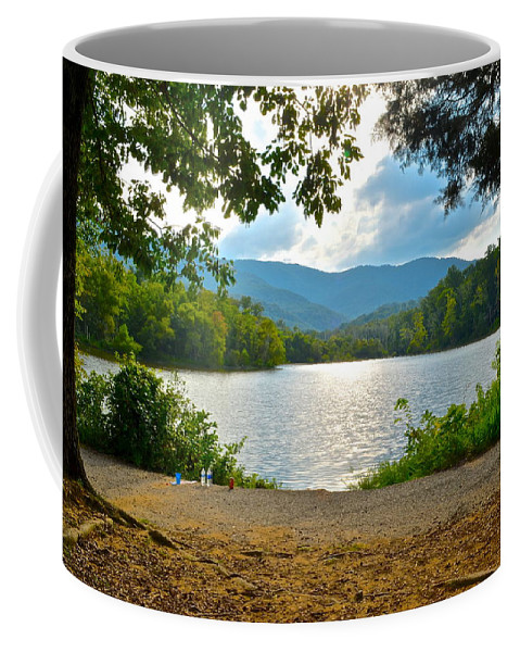 Pond Coffee Mug featuring the photograph On Golden Pond by Frozen in Time Fine Art Photography