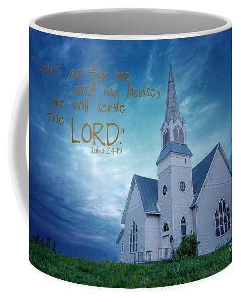 Blue Coffee Mug featuring the photograph On Hallowed Ground - Bible Verse by Beve Brown-Clark Photography