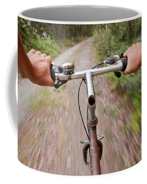 Adventure Coffee Mug featuring the photograph On My Mountain Bike by Stephan Pietzko
