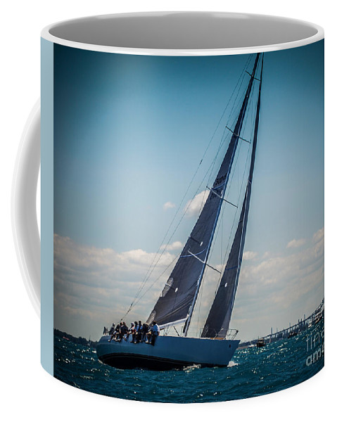 Sailboat Coffee Mug featuring the photograph On Our Way by Ronald Grogan