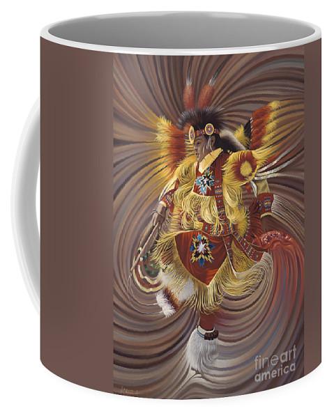 Sacred Coffee Mug featuring the painting On Sacred Ground Series 4 by Ricardo Chavez-Mendez