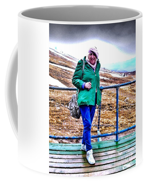 Ben Nevis Coffee Mug featuring the photograph On The Summit Of Ben Nevis by Joan-Violet Stretch